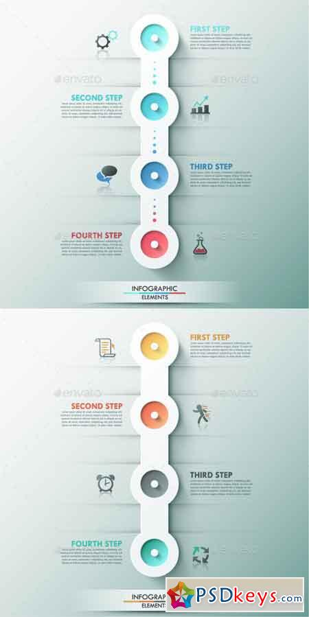 Modern Infographic Process Template (2 Colors) 9356544