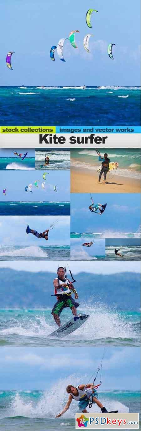 Kite surfer, 10 x UHQ JPEG