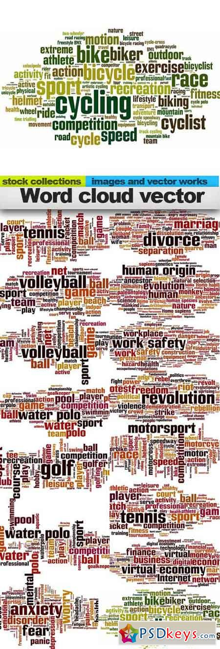 Word cloud vector, 15 x EPS