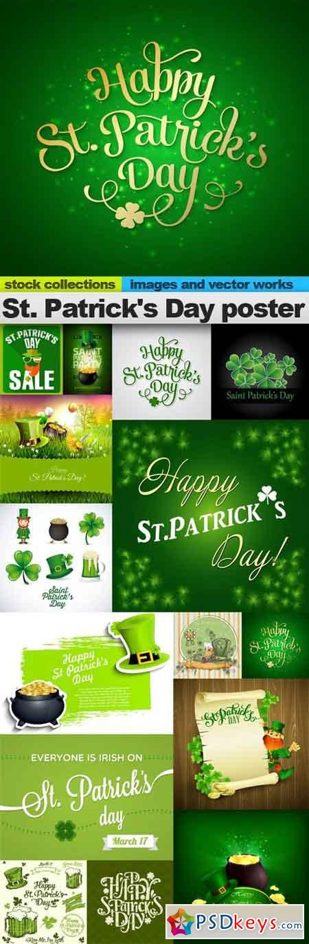 St. Patrick's Day poster, 15 x EPS