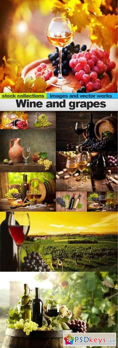 Wine and grapes, 10 x UHQ JPEG