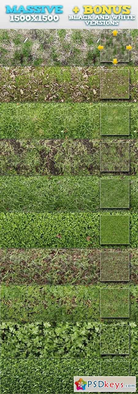 10 Tileable Grass Patterns + BONUSES 93428