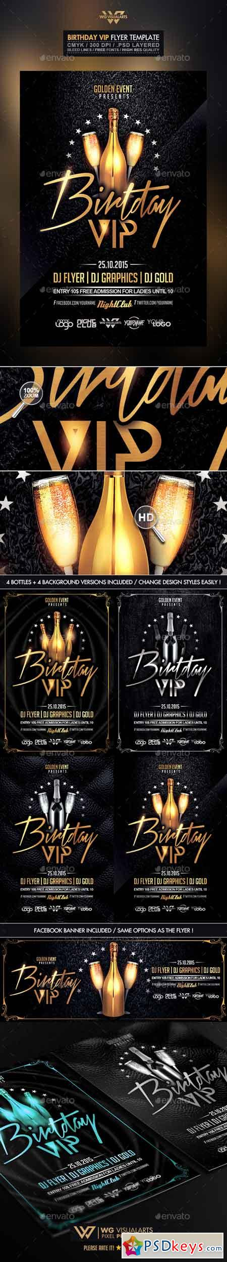 Birthday VIP Flyer Template 10480842