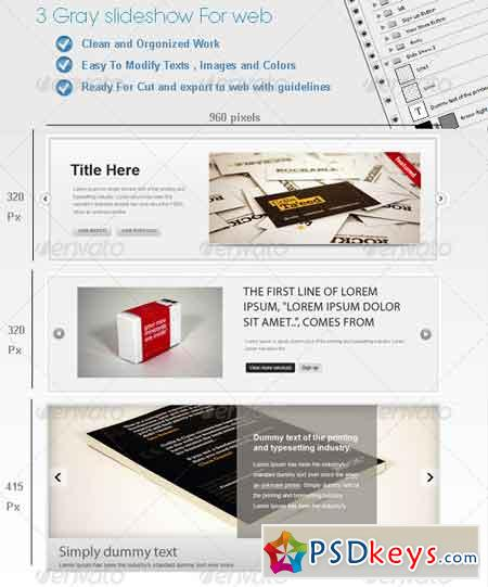 3 Gray Web SlideShows 131828