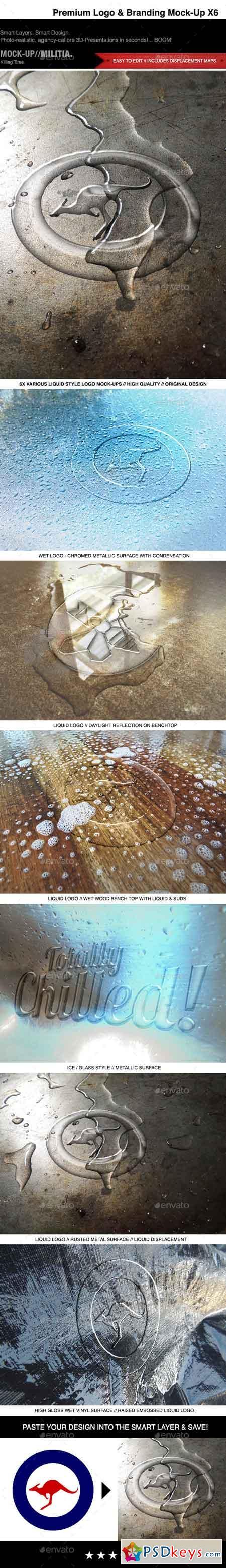 Logo Mock-Up - Liquid Transparent Wet Glass 10471708