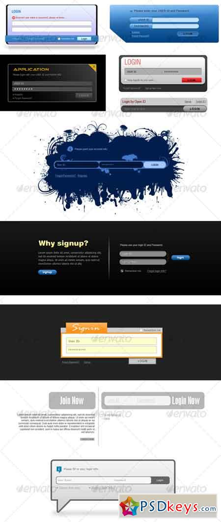 10 Styles of Login Signup 32161