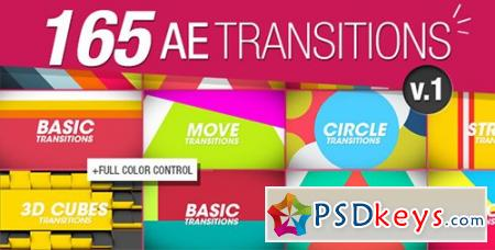 165 Transitions Pack v1 - After Effects Projects 8934642