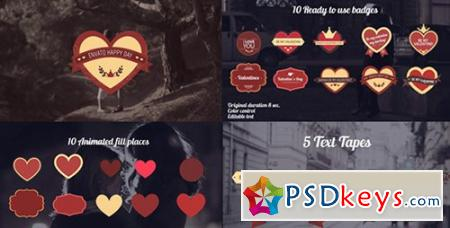 Valentine's Day Badges Package - After Effects Projects
