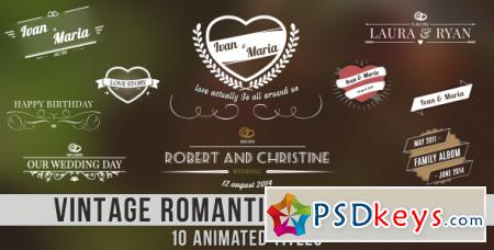 Vintage Romantic Titles Pack - After Effects Projects
