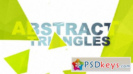 Abstract Triangles Logo Reveal - After Effects Projects