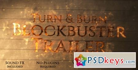 Turn and Burn Blockbuster Trailer - After Effects Projects