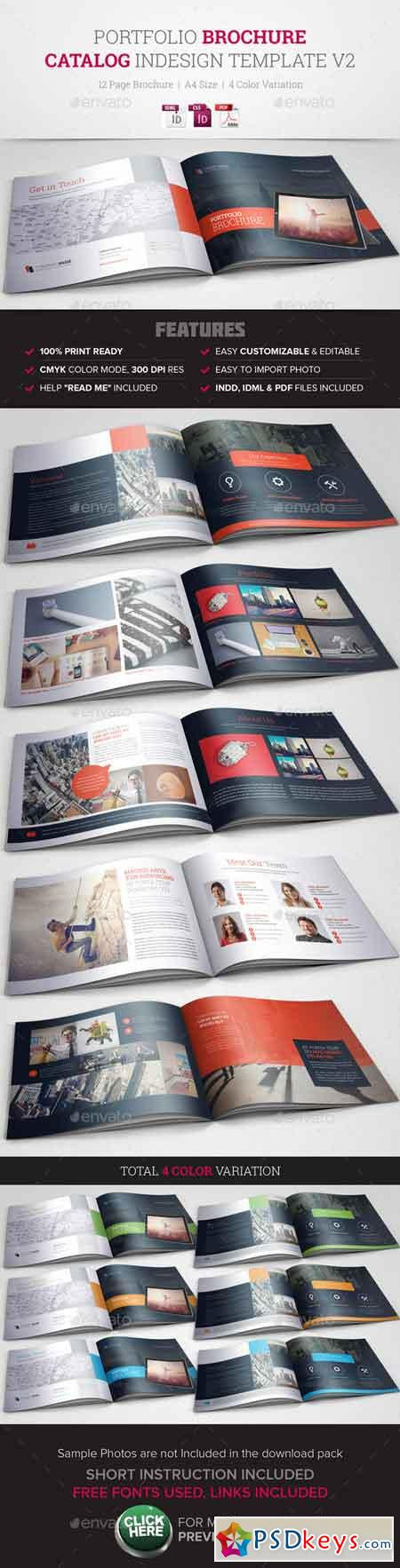 Portfolio Brochure InDesign Template v2 10491396 » Free Download ...