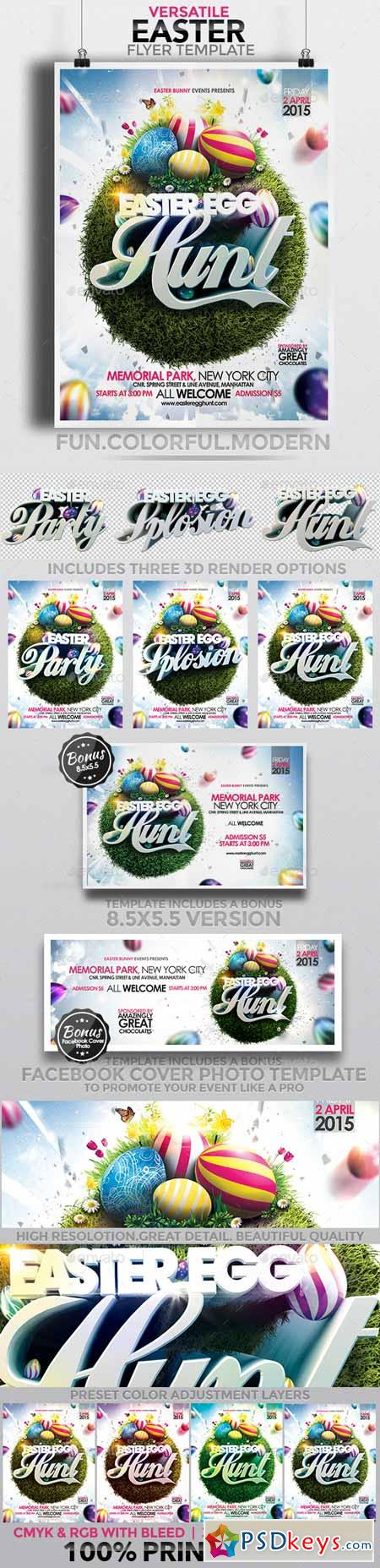 Versatile Easter Flyer Template 10514029