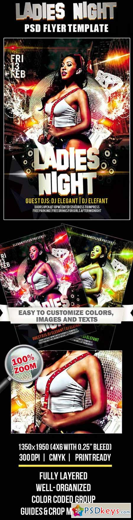 Ladies Night – Club and Party Flyer PSD Template
