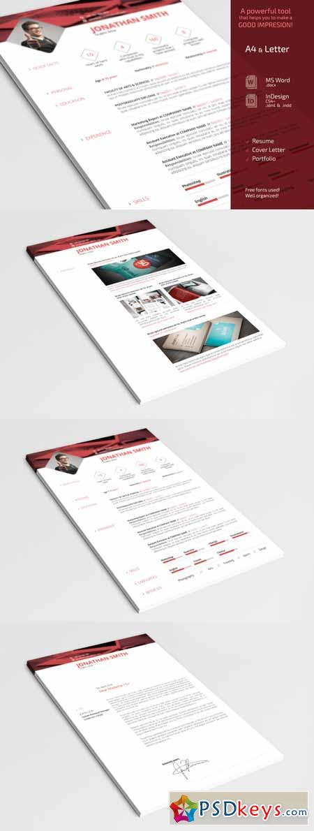 Simple Resume CV Set 204490