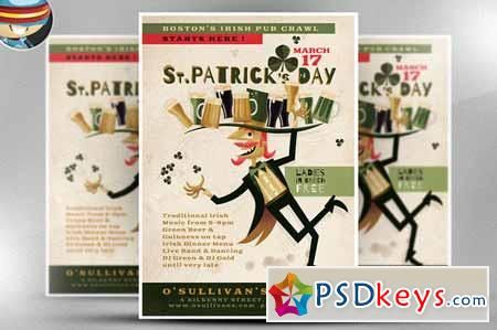 Illustrated St. Patrick's Day Flyer 199374