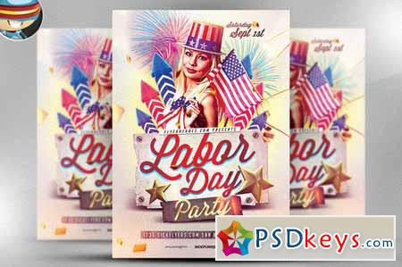 Labor Day Psd Flyer Template 66053 » Free Download Photoshop