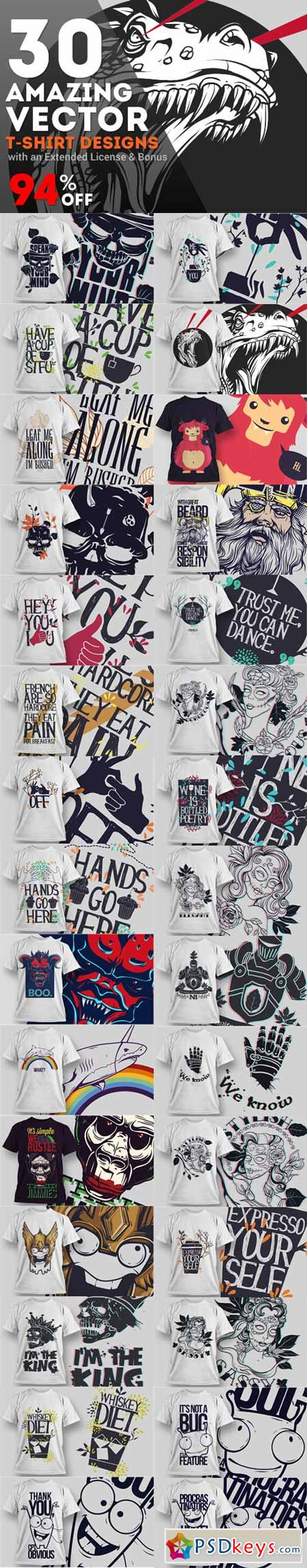 T shirt design 7 25xeps - 30 Amazing Vector T Shirt Designs With An Extended License Bonus