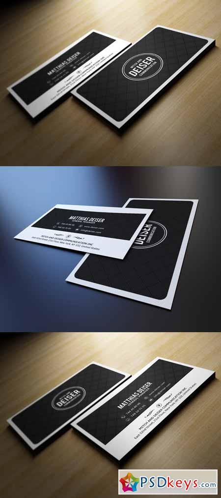 Black And White Business Card 210472