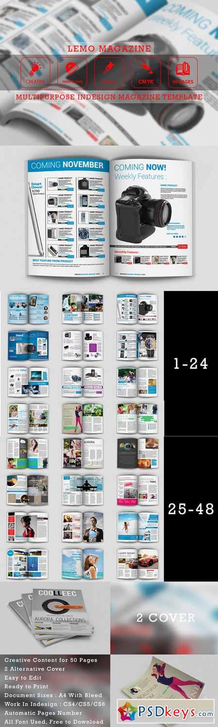 Lemo - Indesign Magazine Templates 201873 » Free Download ...