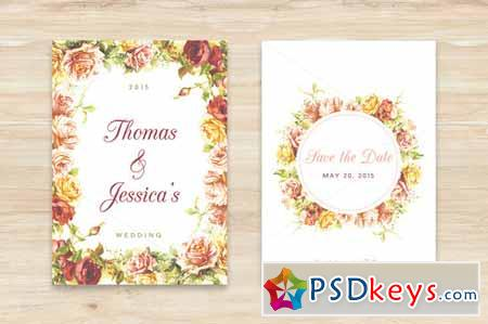 Floral Save The Date 203254