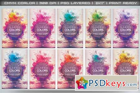 Summer Colors Flyer Template 56013