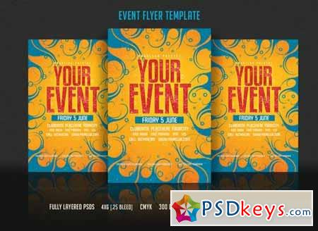 Event Flyer Template 208023 » Free Download Photoshop Vector Stock ...