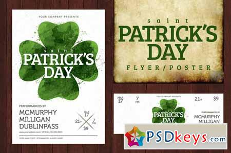 St. Patricks Day Poster-Watercolor 201557