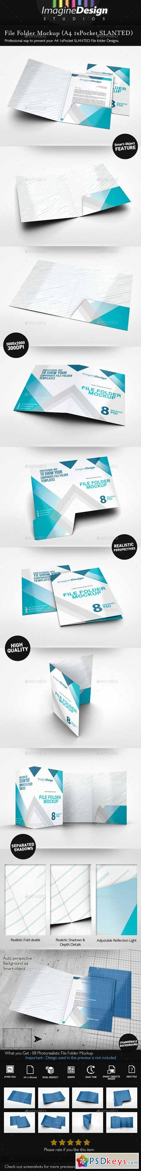 File Folder Mockup 10595159 » Free Download Photoshop Vector