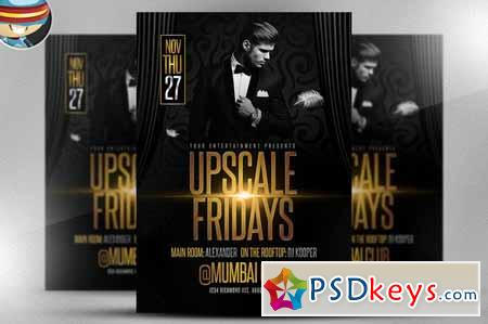 Upscale Fridays Flyer Template 135558