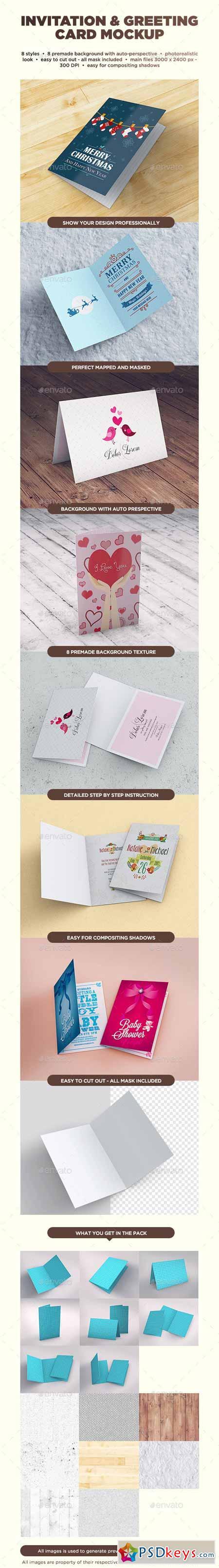 Invitation Greeting Card Mockup 10566468 Free Download