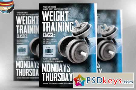 Weight Training Flyer Template 64666