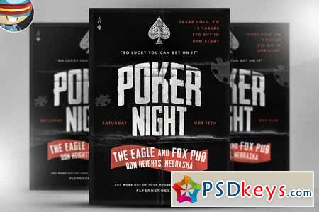 Vintage Style Poker Flyer Template 57879