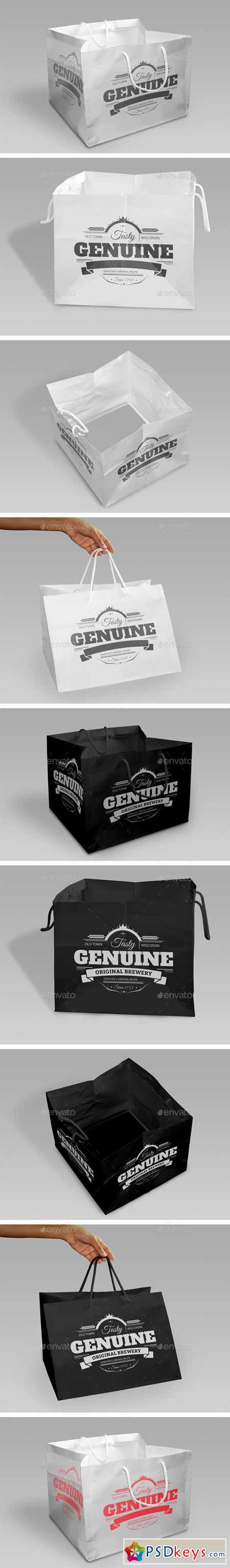 Shopping Bags Mock-Up 10545227