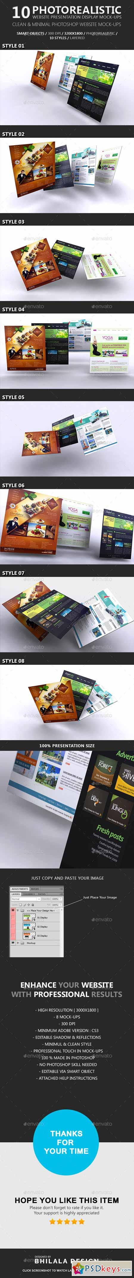 Website Presentation Display Mockup 8816617