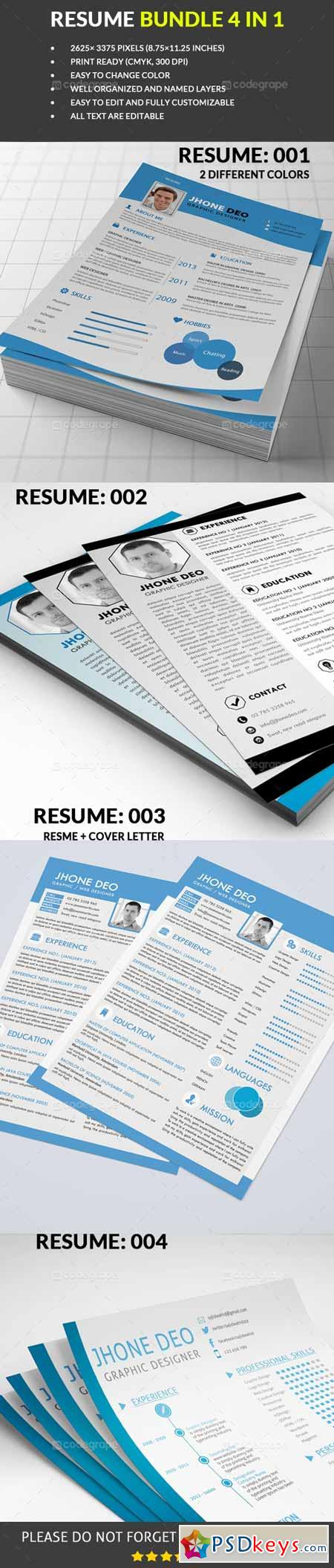 Resume Bundle 4 in 1 5305