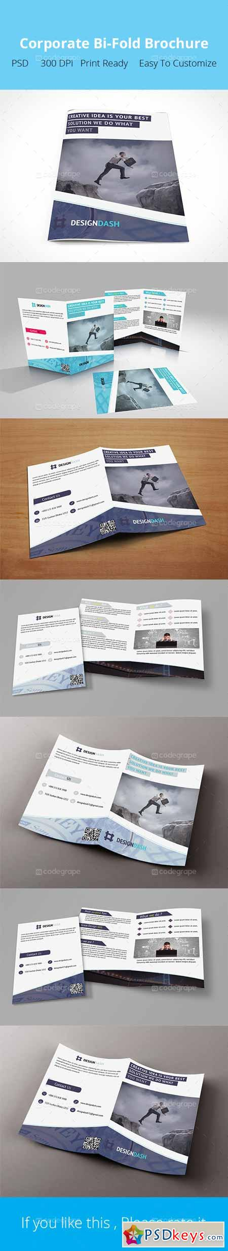Design Agency Bi-Fold Brochure 5124