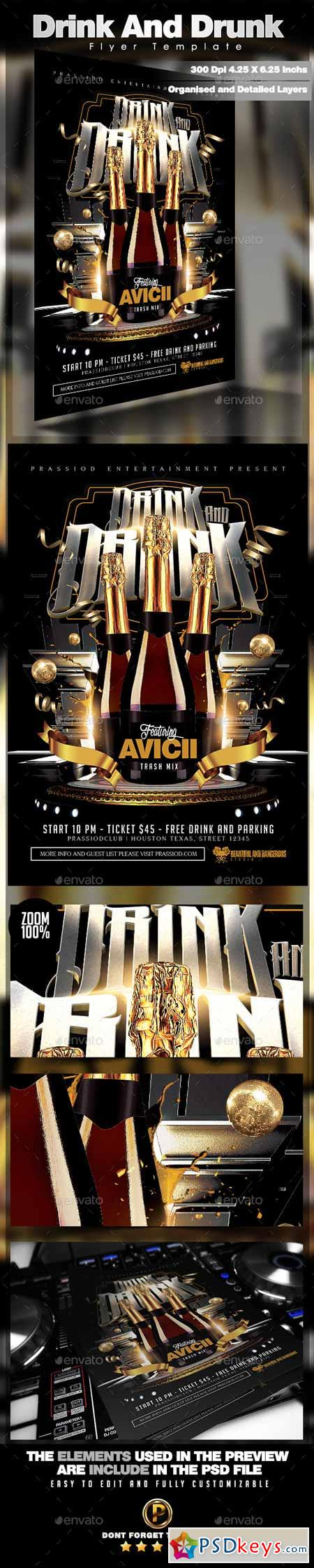 Drink And Drunk Flyer Template 10598353 Free Download Photoshop – Zombie Flyer Template