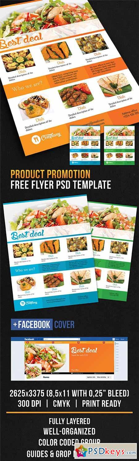 Product Promotion – Flyer PSD Template + Facebook Cover