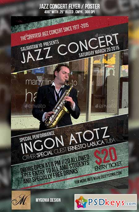 Jazz Concert Flyer Poster 10259804 187 Free Download