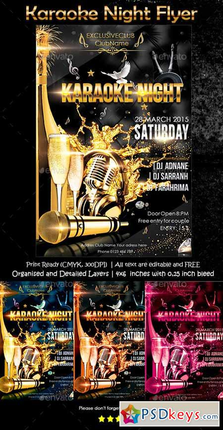 Karaoke Night Flyer   Free Download Photoshop Vector Stock