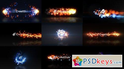 Quick Logo Sting Pack 07 Energetic Particles - After Effects