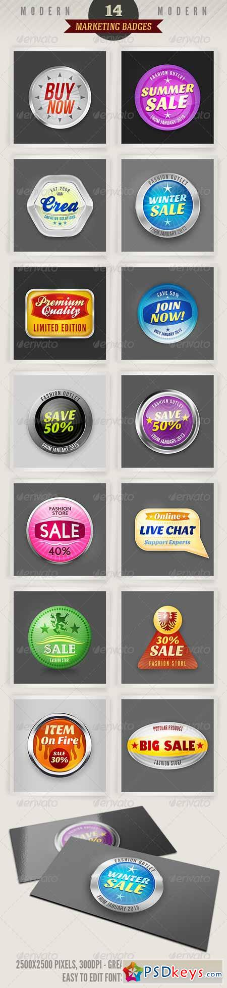 14 Modern Marketing Badges 2622142