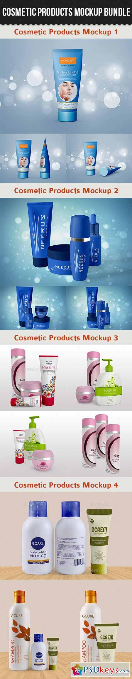 Cosmetic Products Mock-up Bundle 10547771
