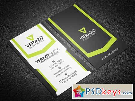 Creative Vertical Business Card 214253