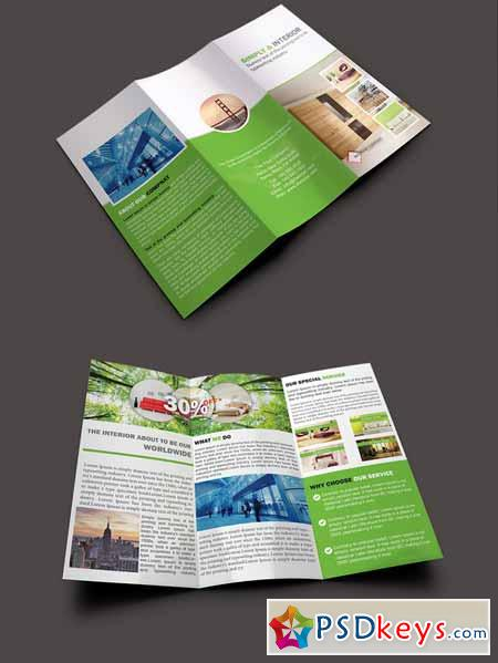 Interior Trifold Brochure Template Free Download - Photoshop tri fold brochure template free