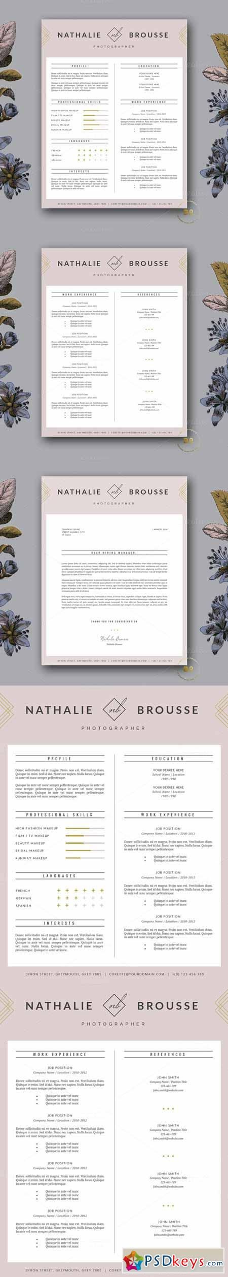 feminine resume template for ms word 213475 free download 1425946375 feminine resume template for ms