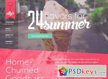 Elly's Ice Cream HTML Template 213839