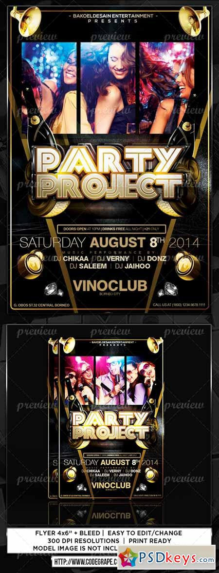 Party Project Flyer 3608