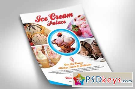 ice cream flyer 215497 free download photoshop vector stock image